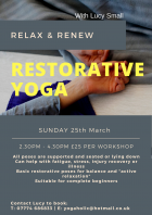 Restorative Yoga with ~ Lucy Small